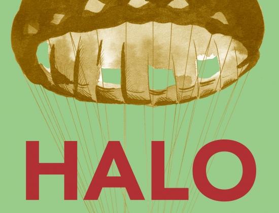 imagen cartel exposición Halo, del programa Harriak