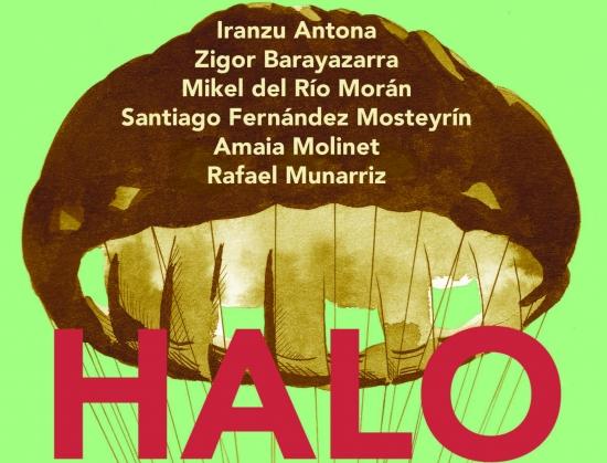 cartel de la exposición HALO en sala Barandiaran de Lekeitio