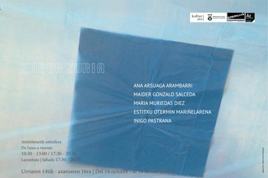 cartel de la exposición Zabor Zuria