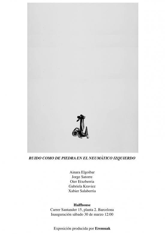 invitación exposición  'Ruido como de piedra en el neumático izquierdo'